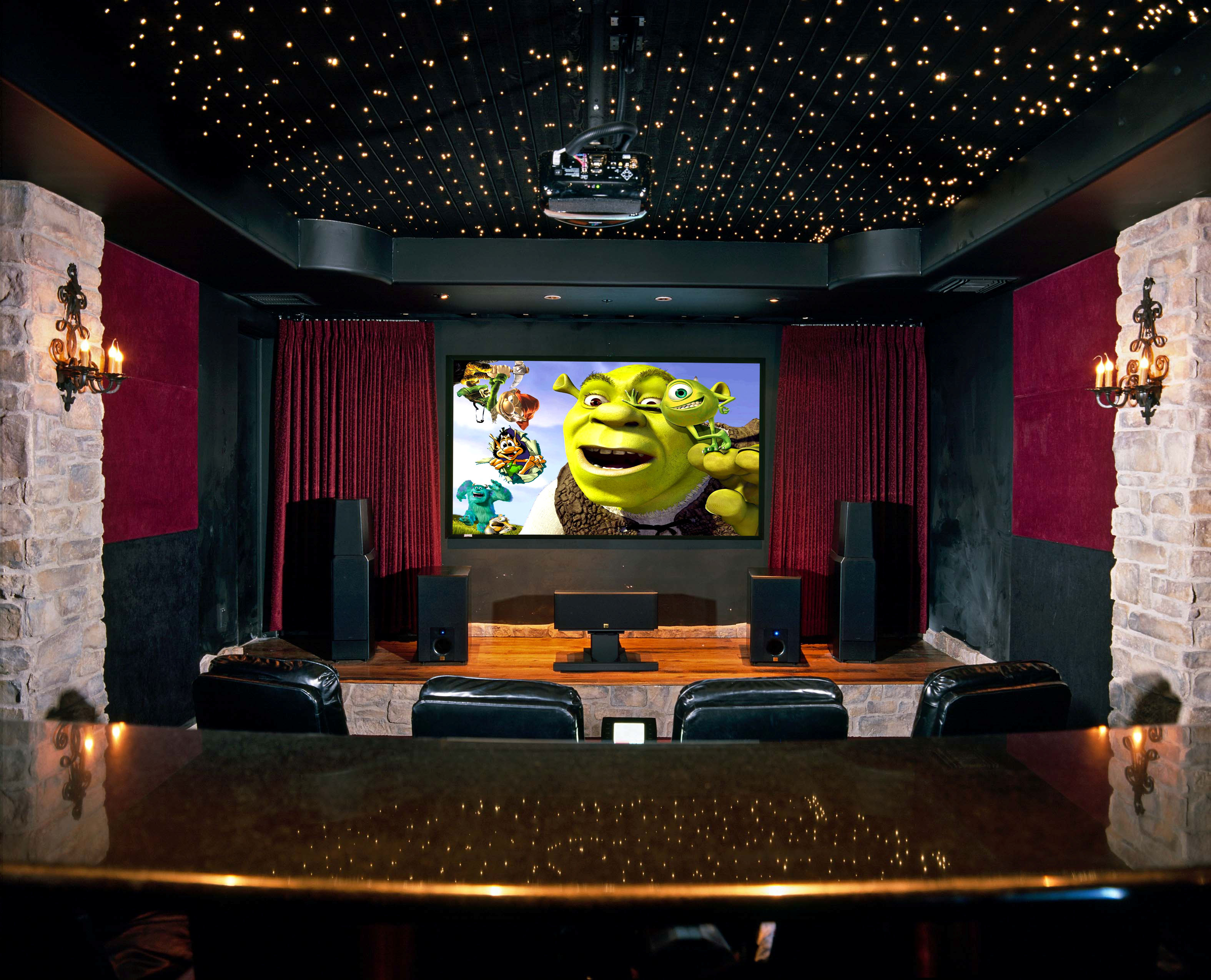 Home Theater Design Houston Adorable Awesome Home Theater Design Houston Photos  Amazing House . Inspiration Design